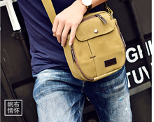 Multifunction Men Vintage Mini Briefcase Casual Durable Shoulder Work Bag Mens All-match Outgoing Cloth Bags Bolso Hombre DF336