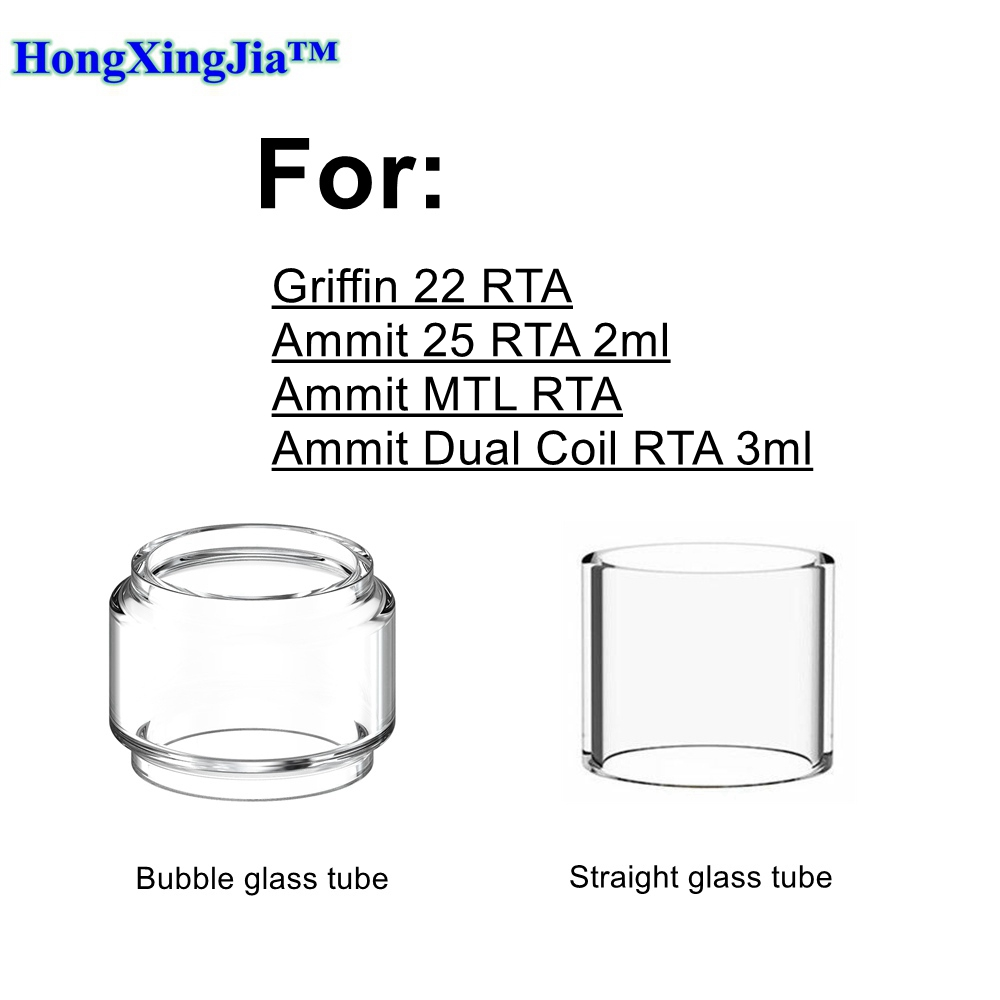 HXJVAPE Original Pyrex Bubble Bulb Glass Tube Tank For Geek Vape Ammit 25 Dual Coil MTL RTA Atomizer Tank Griffin 22 RTA