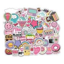 60 шт. милая розовая маленькая свежая наклейка s DIY Наклейка для скрапбукинга чемодан для скейтборда наклейка для ноутбука s декоративная наклейка