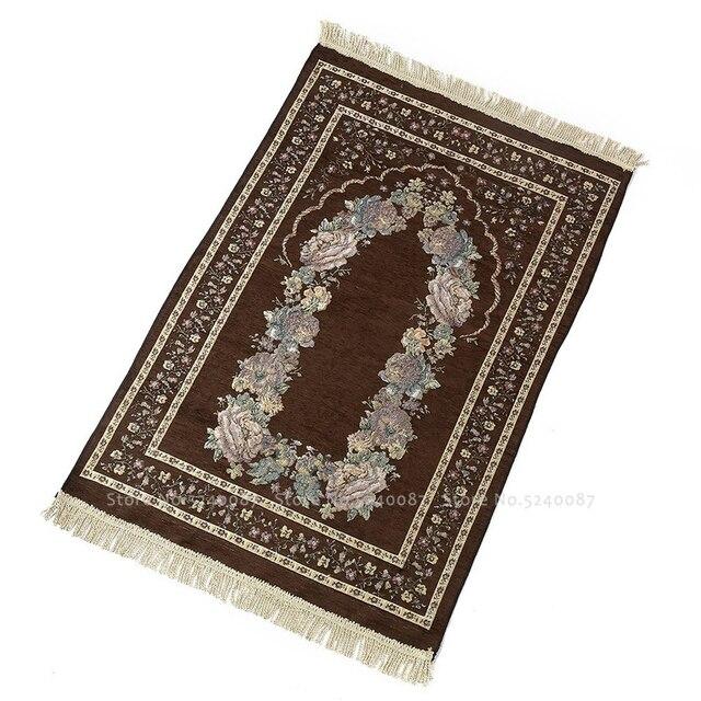Muzułmańska mata do modlitwy meczet kult Pad Chenille islamski tradycyjny rytuał pielgrzymka koc chiński Hui dywan dywan 70cm * 110cm