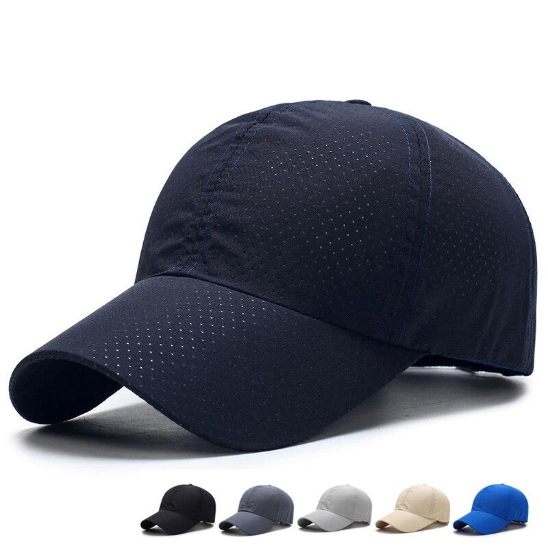 2018 Monochrome Summer Baseball Cap For Men Snapback Women's Quick-drying Mesh Breathable Sun Hat Men's Baseball Cap