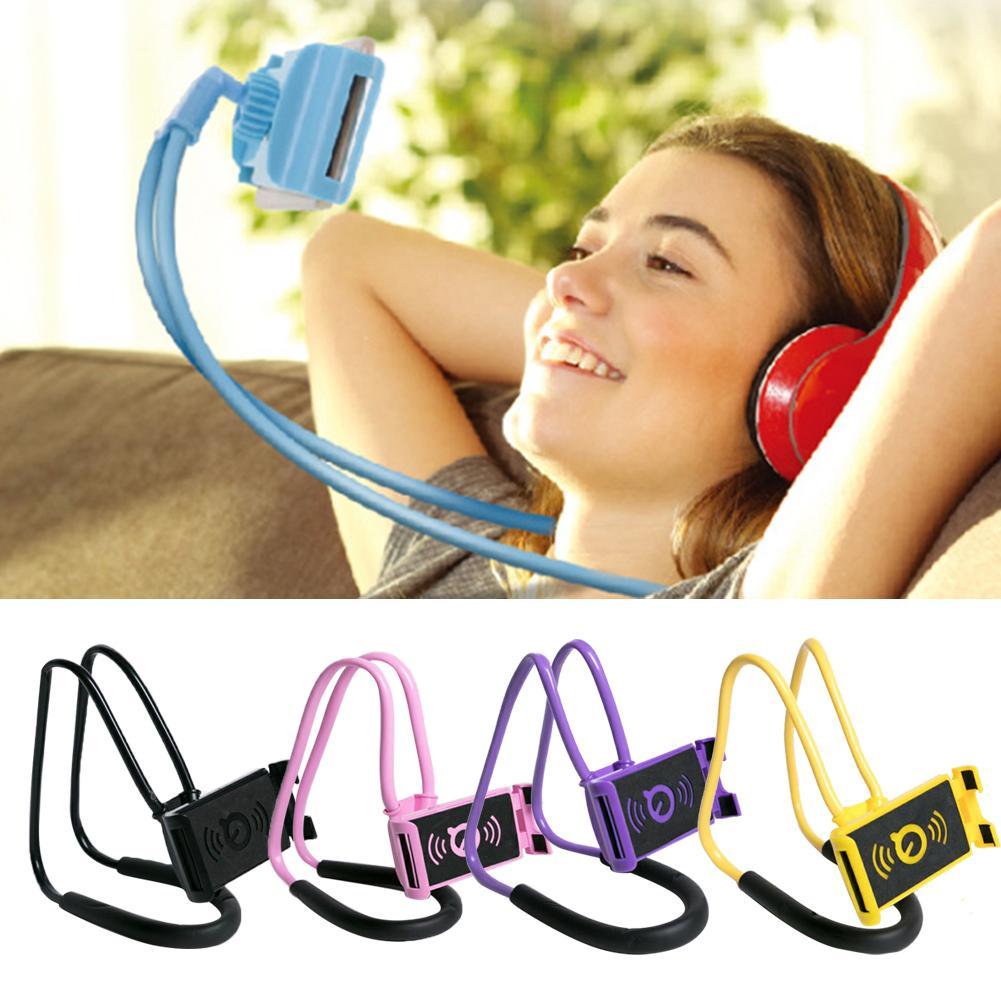 Lazy Hanging Neck Phone Holder Halter Mobile Stands Necklace Cellphone Support Bracket For Samsung Universal Holder For IPhone