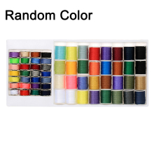 60 Pcs Mixed Colors Sewing Thread Set Metal Bobbins Spools For Household Machines