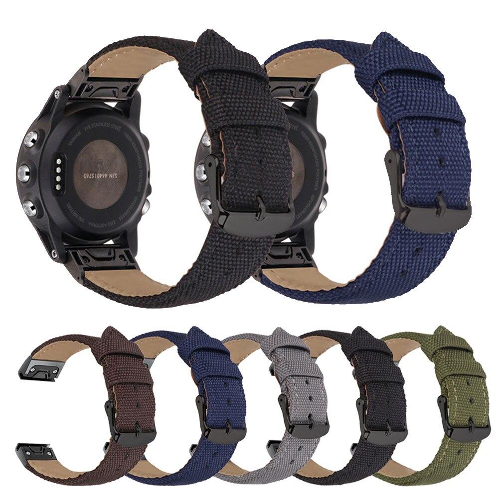 Quick Release Replacement Watchband For Garmin Fenix6S PRO Wriststrap 20mm 22mm 26mm Cotton Sport Watch Band For Garmin Fenix 6X