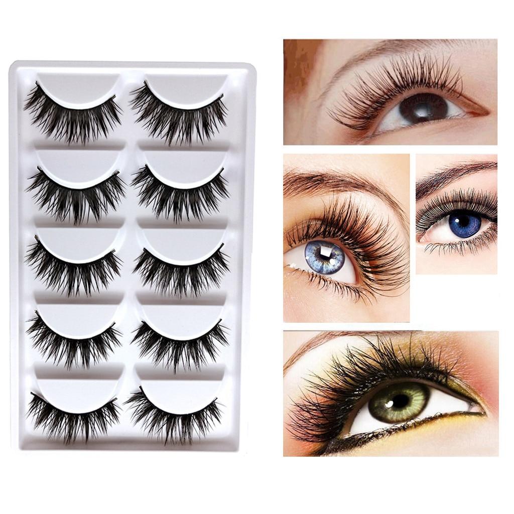 5Pairs Luxury  False Lashes Fluffy  Eyelashes Natural Fashion Party False Eyelashes Lashes Voluminous Eye Lashes Y806