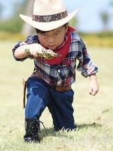 Детская Ретро Кепка для мальчиков и девочек с двумя пистолетами