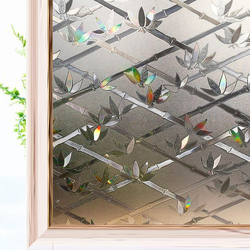 3D Fence Effect Stained Decorative Window Film Static Privacy Protective Glass Sticker Vinyl Self Adhesive Window Clings Bamboo