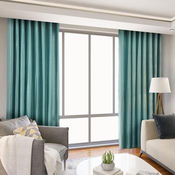 NAPEARL plaine teinte rideau occultant cuisine porte fen tre rideaux pour salon pleine ombre panneau couleur
