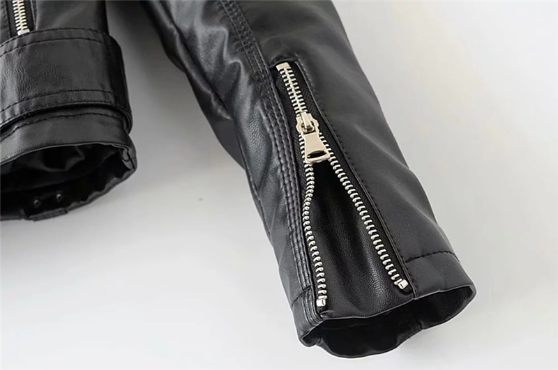 Short Snake Pattern Punk Vintage Women Pu Leather Jacket Turndown Collar Biker Female Motorcycle Jacket
