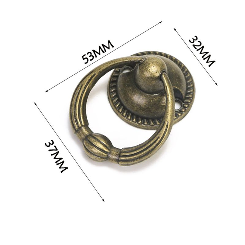 Купить с кэшбэком Antique Furniture Handles Drawer Cabinet Door Knobs Pull Handles Retro Decor