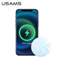 USAMS Magnetic Wireless Charger For iPhone 12 12Pro Huawei Samsung Xiaomi 11 Max Fast Charger 15W For iPhone 12 11 Mini Ultra Thin Wireless Charging Fast