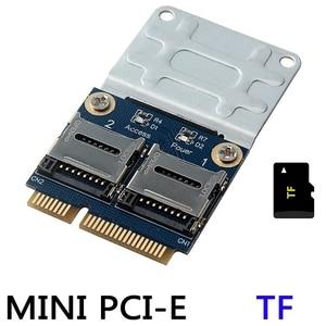 Image 3 - 2 SSD HDD do laptopa podwójny micro sd SDHC SDXC TF do Mini PCIe czytnik kart pamięci MPCIe do 2 mini sdcards Mini Pci E Adapter