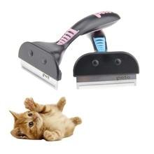 Pet Furmins epilasyon tarak köpek kısa orta saç fırçası kolu makyaj fırçası aksesuarları tarak kediler tımar aracı
