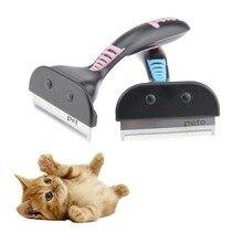 애완 동물 furmins 머리 제거 빗 개 짧은 중간 헤어 브러시 핸들 아름다움 브러쉬 액세서리 빗 고양이 손질 도구