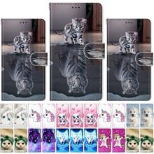 Lovely Cat Dog Flip Phone Case For LG Stylo 4 5 V40 V50 ThinQ K40 K50 Q60 Q6 Plu