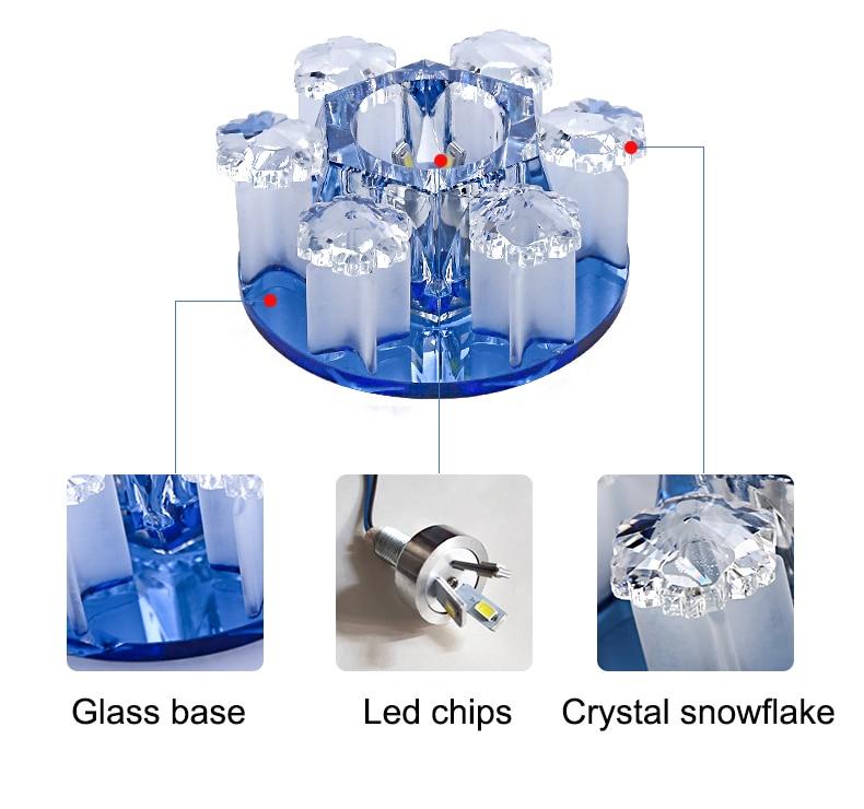 Luzes de teto led cristal moderno do