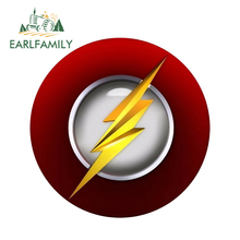 EARLFAMILY 13cm x 3D Car Stickers The Flash Logo Super Hero Window Bumper Decal Rear Windshield Styling Sticker