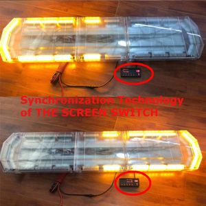 """Image 3 - 41 """"210W LED 12V 24V kamyon araba çakarlı lamba ışıklı çubuk Led Bar yanıp sönen işaret ışığı ışık çatı acil durum uyarı lambaları 21 modları"""