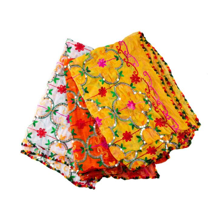 3 Colors India Sarees Woman Fashion Ethnic Styles Dupattas Sarees Spring Summer Scarf Beautiful Comfortable Shawl