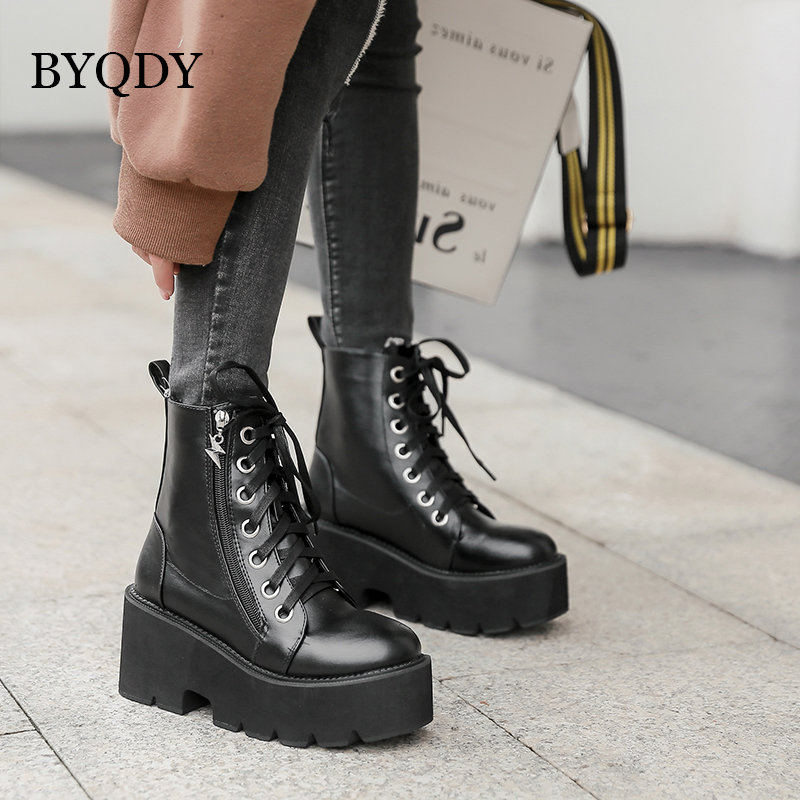 BYQDY Spring Autumn Women Shoes Round