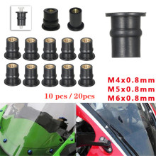 10/20PCS M4 M5 M6 Aluminum Motorcycle Fairing Screws Bolts Kit Body Mount for Windshield Nuts