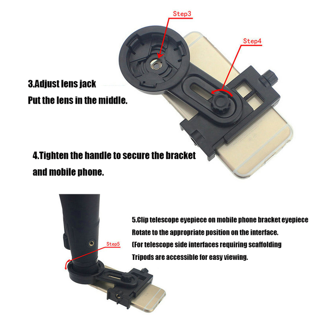 Adaptateur de photographie support de télescope support de téléphone support de montage rapide pour jumelles ou monoculaire support de Microscope