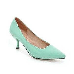 Image 5 - ZawsThia talons hauts femmes pompes talon mince classique jaune violet sexy dames bureau carrière chaussures femme robe chaussures talons aiguilles