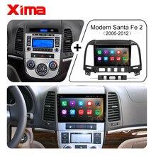 מקסימה 2 דין אנדרואיד 9.0 4G LTE dvd Autoradio אודיו מסך רכב רדיו מולטימדיה וידאו נגן ליונדאי סנטה fe 2 2006 2012