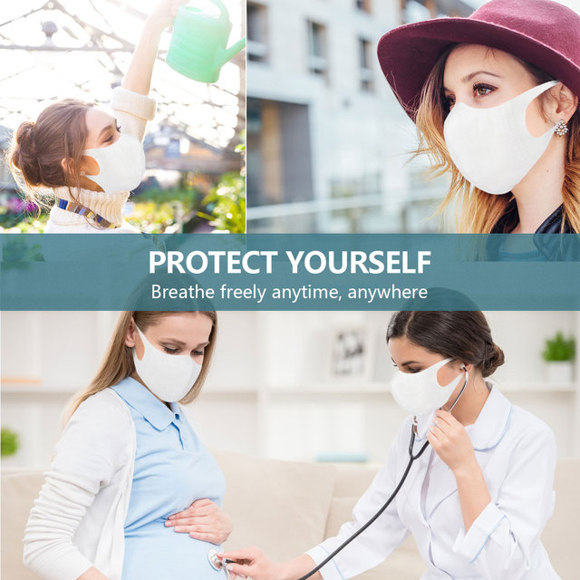 10pcs 3D Stereo Disposable Masks Mouth Mask 3-Ply Anti-virus Anti-Dust FFP3 KF94 N95 Nonwoven Elastic Earloop Mouth Face Masks 4