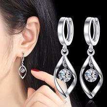 Water Drop Crystal Long Earrings for Women Statement Hanging Dangle Pendant Womens Jeweley