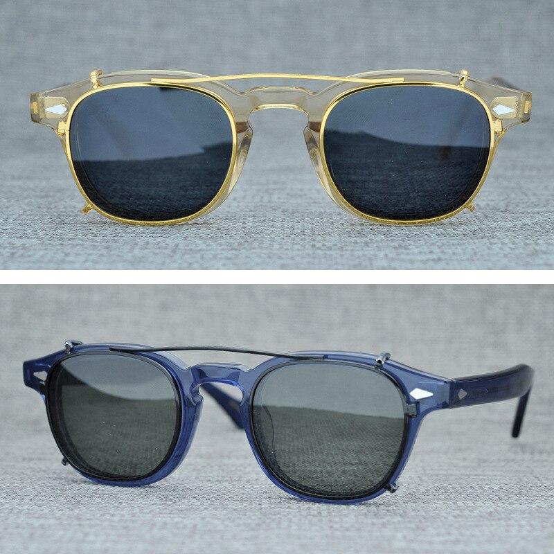 Поляризационные солнцезащитные очки на застежке для мужчин и женщин, фирменный дизайн, Ретро стиль, Винтажные Солнцезащитные очки, UV400