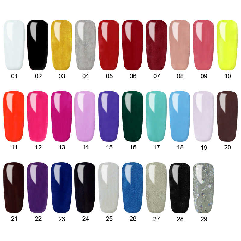 Zation Pure Color UV UV เจลใหม่ 2019 เล็บ 52 สี UV LED Soak Off DIY สี UV เจลเล็บ Lacquer