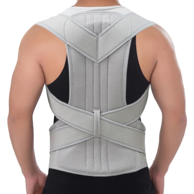 Posture Corrector Scoliosis Back Brace Spine Corset Belt Shoulder Therapy Support Poor Posture Correction Belt Men Women Student