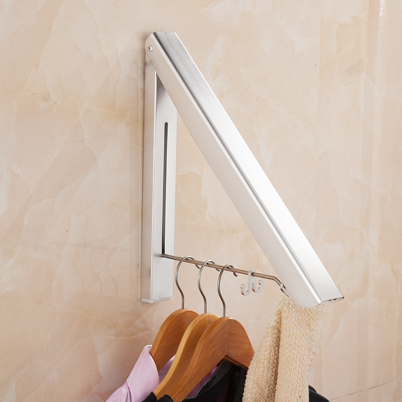 Wall Hanger Retractable Indoor Clothes Hanger Folding Kitchen Drying Stand Rack Hanging Holder Organizer YHJ101905