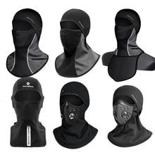 Scarfs Ski-Mask Snowboard ROCKBROS Balaclava Headgear Hood Cycling Fleece Full-Face-Cover