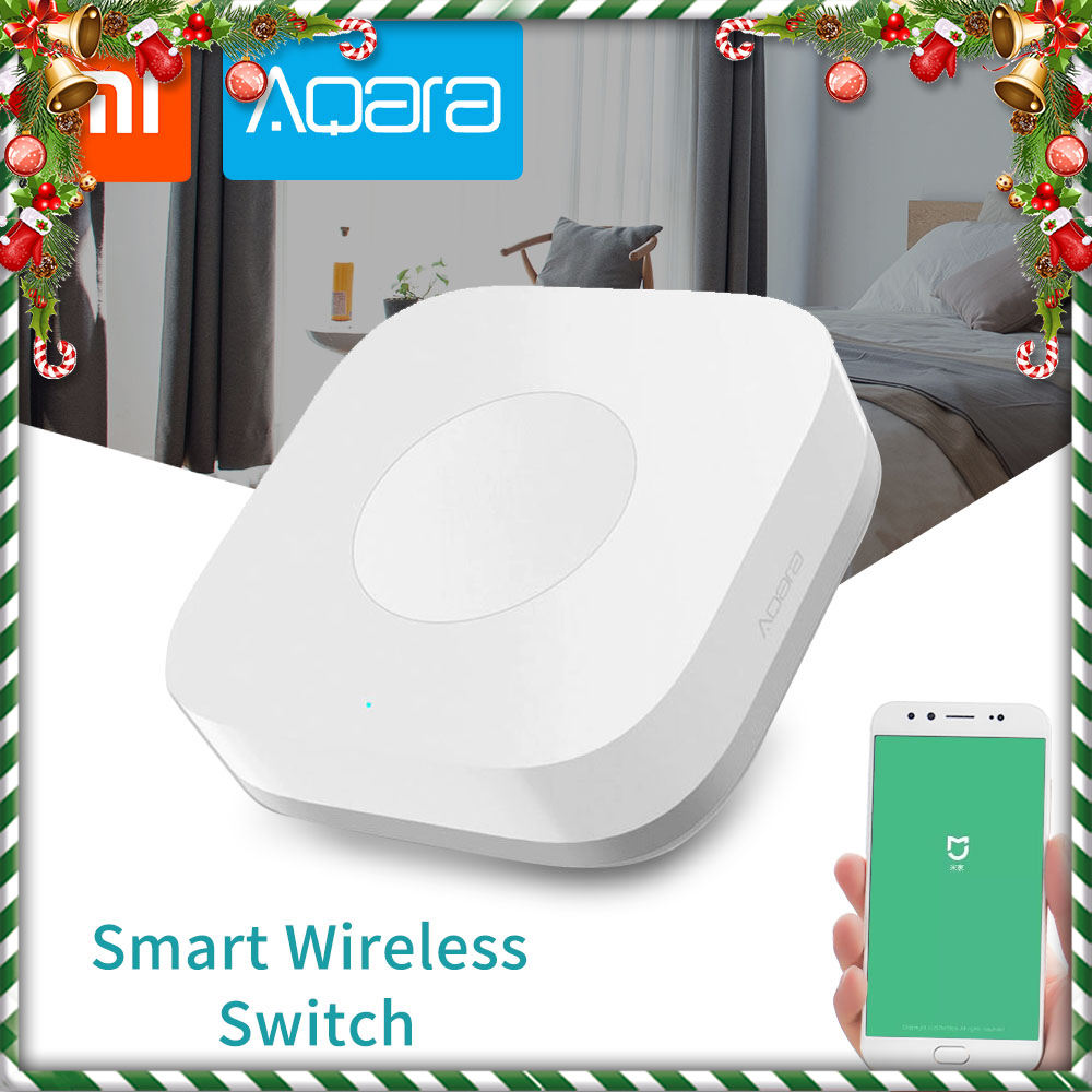 Xiaomi Aqara Smart Wireless Switch For Mi Home App Remote Control Security Alarm ZigBee Wifi Connection 1 Gang Key Switches