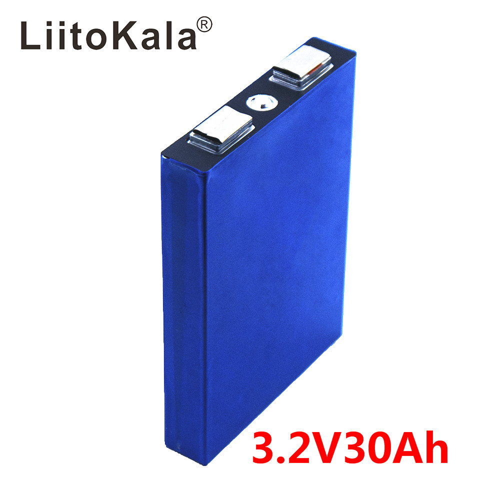 LiitoKala LiFePo4 3.2V 30AH 5C Battery Lithium Bateria For Diy 12V Lifepo4 E-bike E Scooter Wheel Chair AGV Car Golf Carts