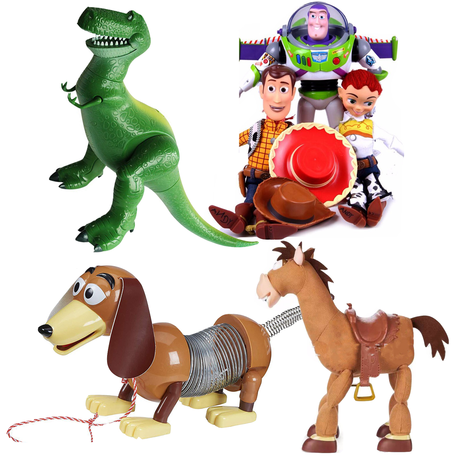 43cm Toy Story 3 Talking Woody Speaking Jessie Buzz Lightyear Action Toy Figures Model Toys Plush Doll Rex Figurine Kids Gift
