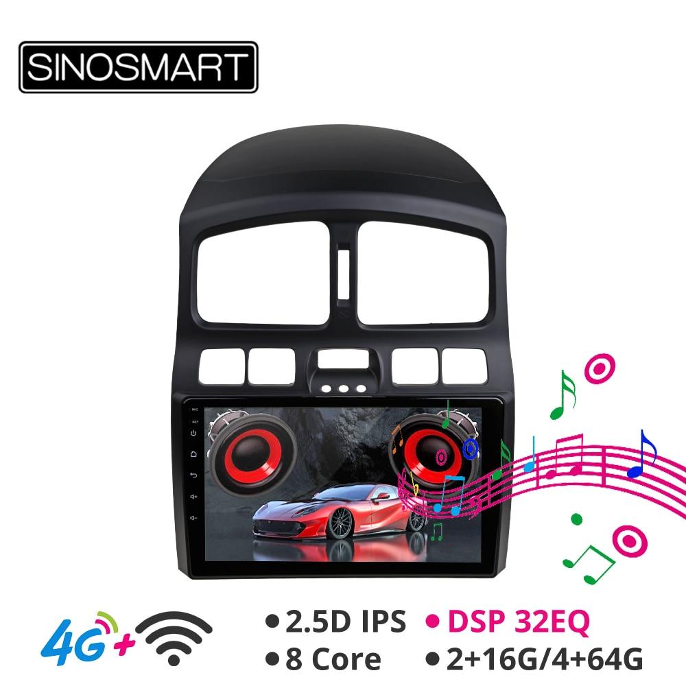 Sinosmart Android 8.1 Car GPS Navigation Radio forHyundai Classic Santa Fe 2005 2015 2din 2.5D IPS/QLED Screen|Car Multimedia Player| |  - title=