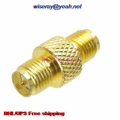 DHL/EMS 500pcs Adapter RPSMA Female To RPSMA Female Straight RF COAXIAL With One Year Warranty -a4