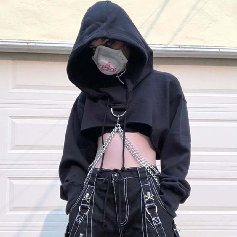 Kpop Gothic Fashion Crop Tops