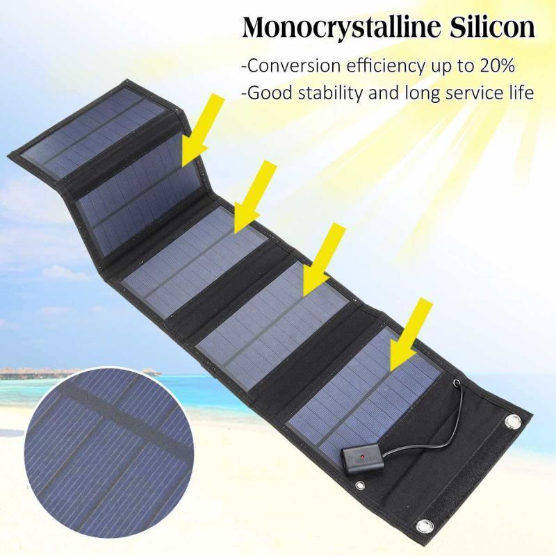 dobravel painel solar 30w 18 5v carregador de energia portatil para o telefone celular acampamento ao