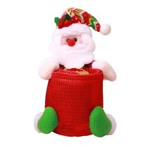 Рождественская тканевая Коробка Чехол для салфеток держатель туалетной бумаги рулон крышка Рождественская тканевая канистра домашний декор украшения