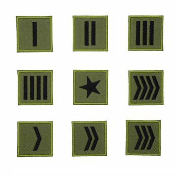 Corporal Sergeant Colonel General TACTICAL SAMURIA ARMY PATCH Embroidered HOOK AND IRON ON BACKING