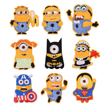 Cartoon Character Cloth Sticking Embroidery Garment Filling Hole Ironing Back DIY iron on patches Minion yellow boy