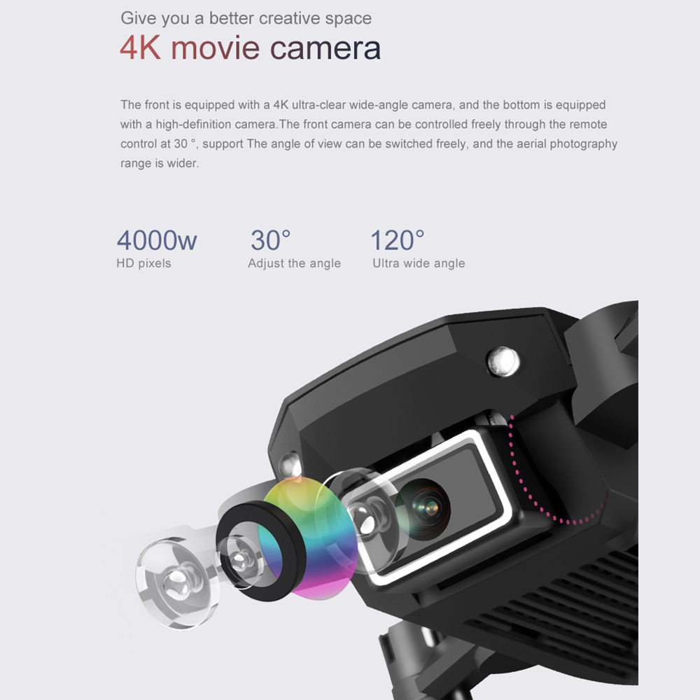 2020 new mini RC drone 4K HD camera WiFi Fpv air pressure altitude maintenance 15 minutes battery life foldable Quadcopter toy 2