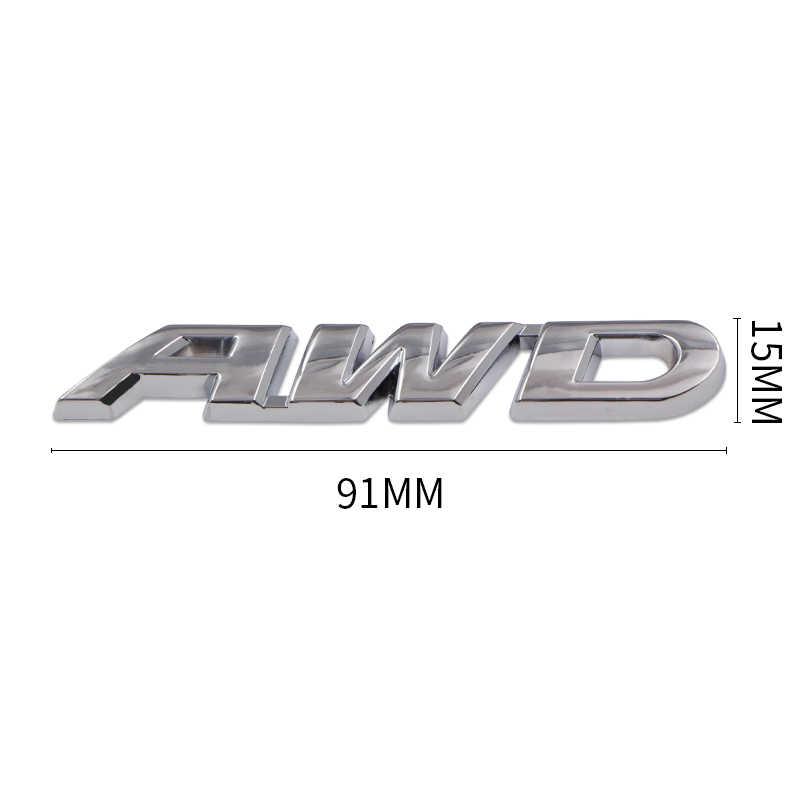 3D Coche Cromo Plata Pegatina Emblema Insignia calcomanía trasera de cola AWD logotipo OFF ROAD SUV
