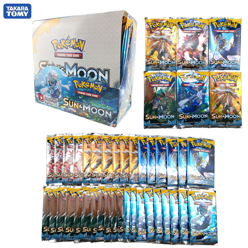 324Pcs Pokemon Cards Box TCG: Sun & Moon Evolutions Pokemon Booster Shinny Card Pokemon Game Toy Kids Birthday Gift
