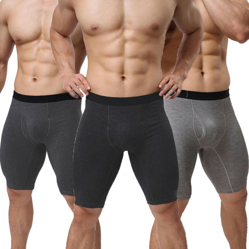Men Tights Boxers  Bulge Pouch Compression Shorts Trunks Bottom Sport Shorts