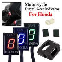 Motocicleta 1-6 nível efi velocidade engrenagem display indicador de alumínio ecu engrenagem para honda cbr cbr300 cbr1000r cbf500 nc400x nc700 vt400